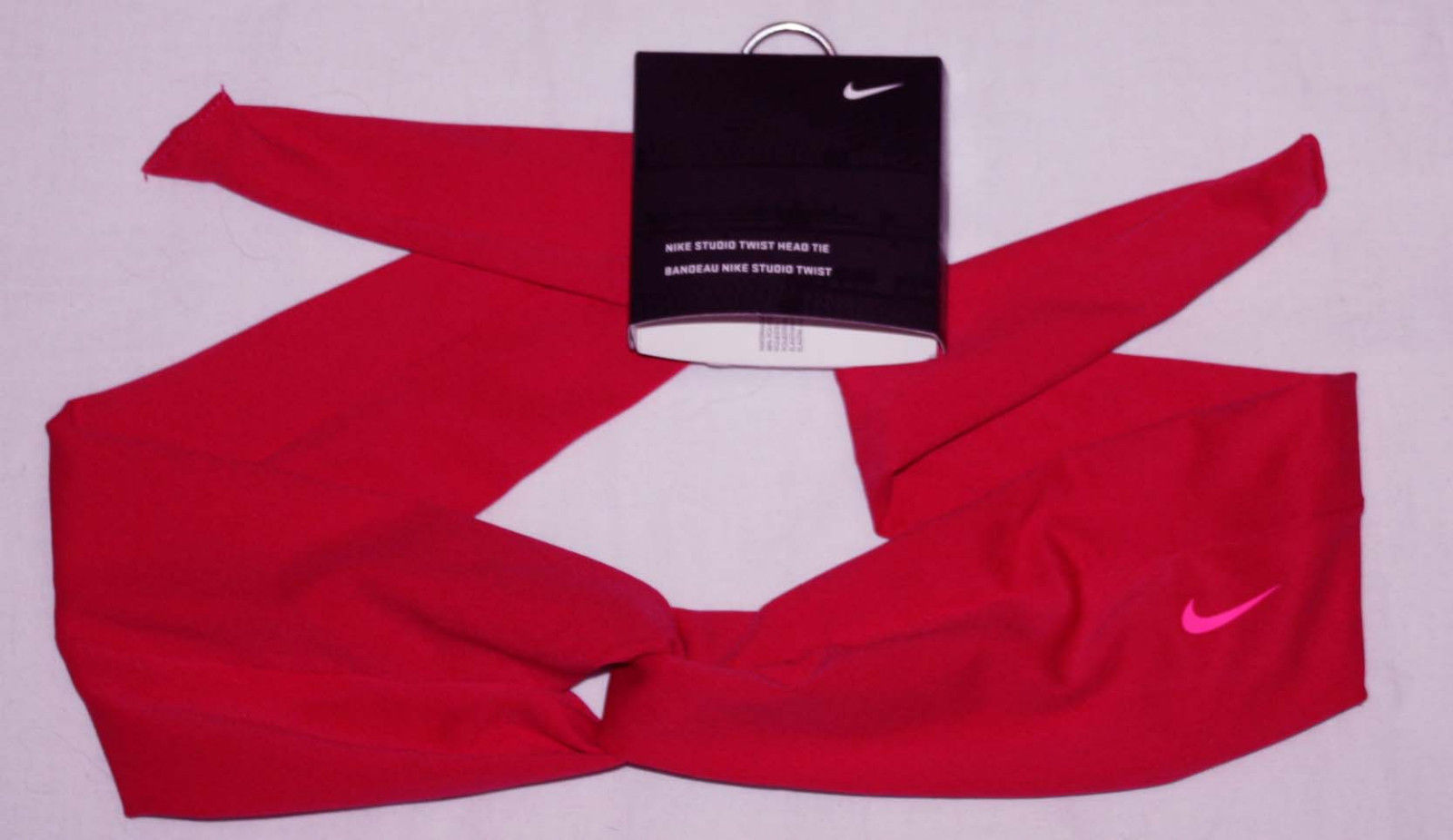 Nike Studio Unisex Twist Dark Pink Punch/Bright Pink Swoosh Head Tie (One Size) 11411