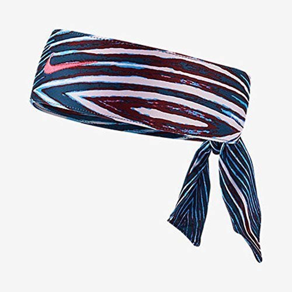 Nike Unisex Blue/Red/White/ Pink Punch Swoosh Dri-fit 2.0 Head Tie (One Size) 11412