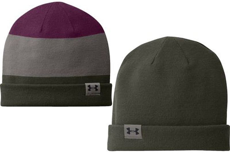 Under Armour Men's Four-In-One Stripe Beanie Rifle Green/Tanstn/Flourish (One Size)