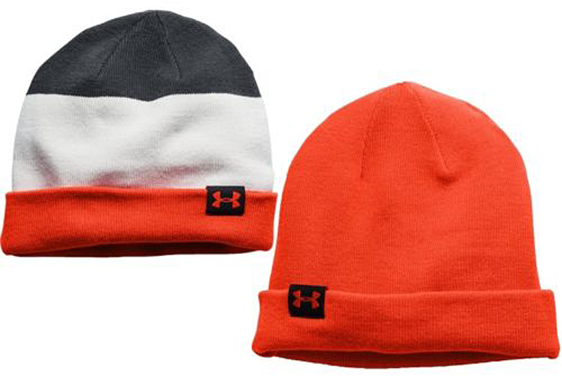 Under Armour Men's Four-In-One Stripe Beanie Anthracite/Elmntl/Volcano (One Size) 11624