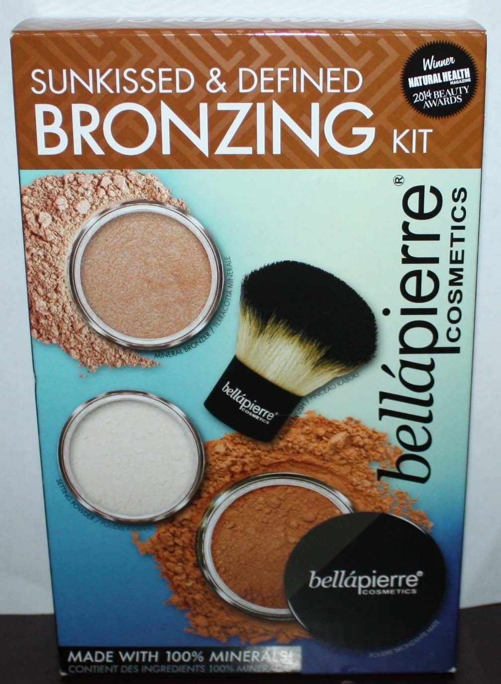 Bella Pierre Sunkissed & Defined Bronzing Kit *Bronzers/Powder/Kabuki Brush 12170