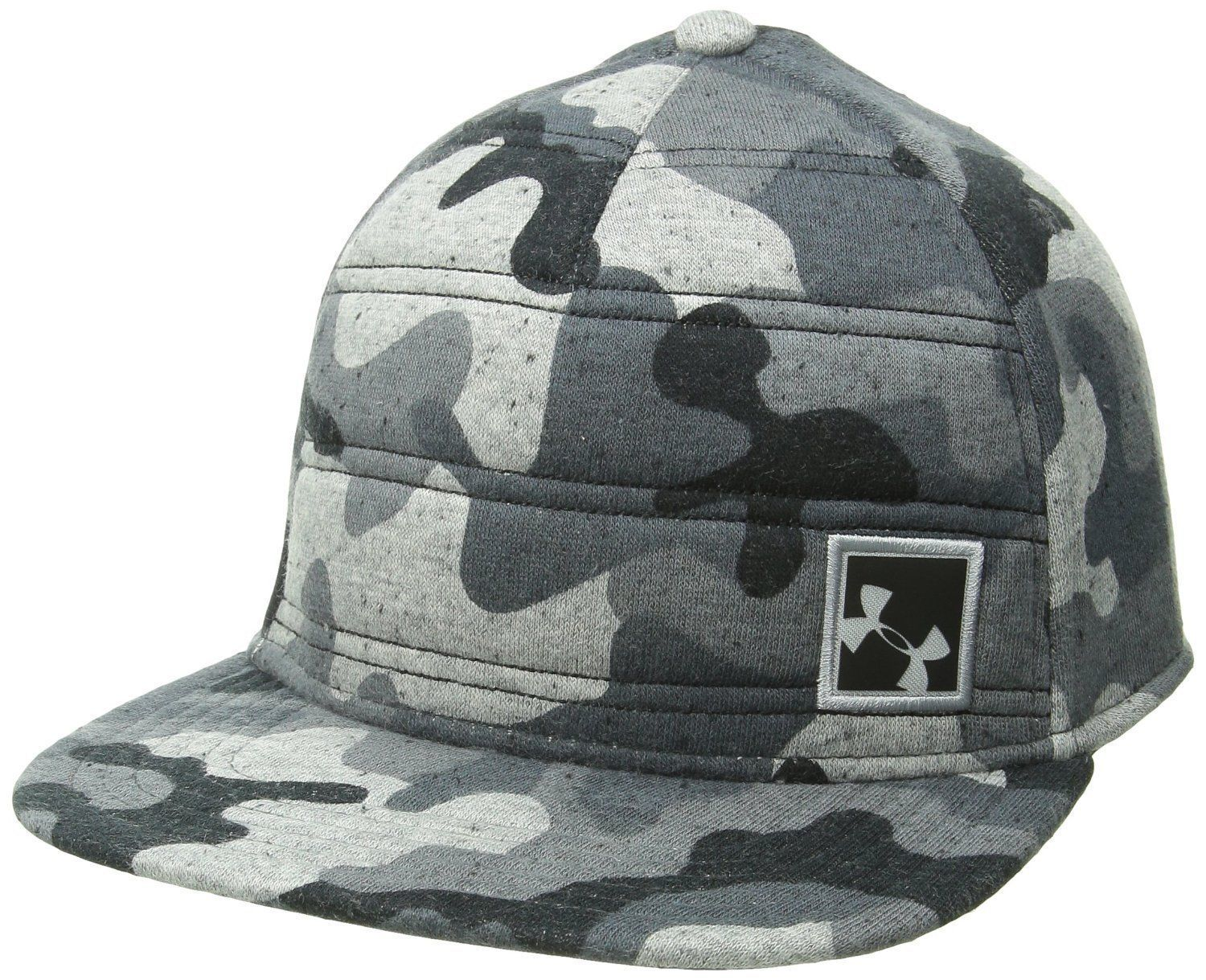 Under Armour Men's Quilted Black/Graphite/Amalgam Gray Camo Snap Back Hat (One Size) 12231