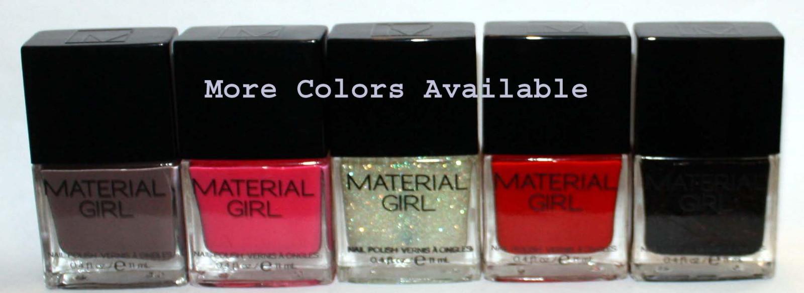 Material Girl Nail Polish Lacquer .4 oz  (Several Colors) *Reduced* 03378