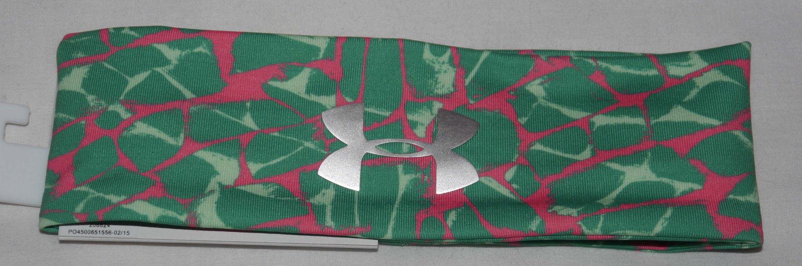 Under Armour Girl's Emerald Lake/Afterburn/Silver Metallic UA Print Headband 12550