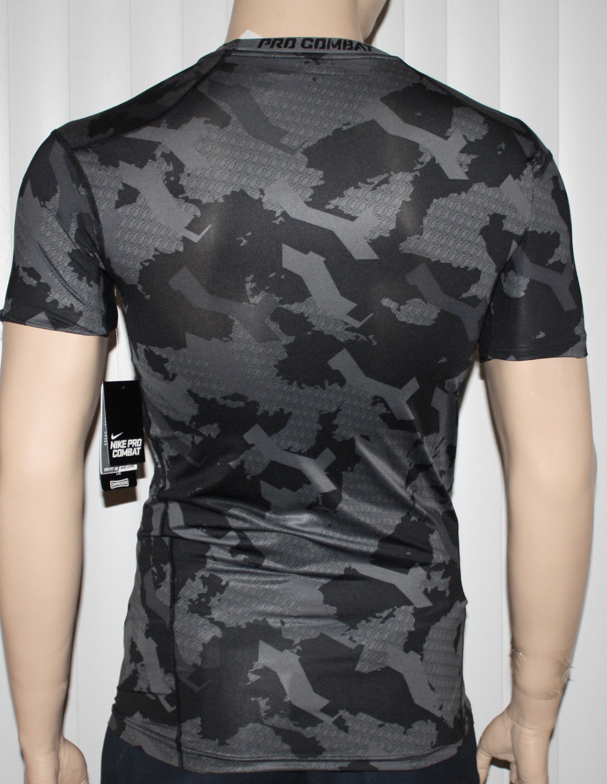 Nike Pro Combat Men's Dri-Fit Black/Dark Gray/Gray Camo Compression (XX-Large)