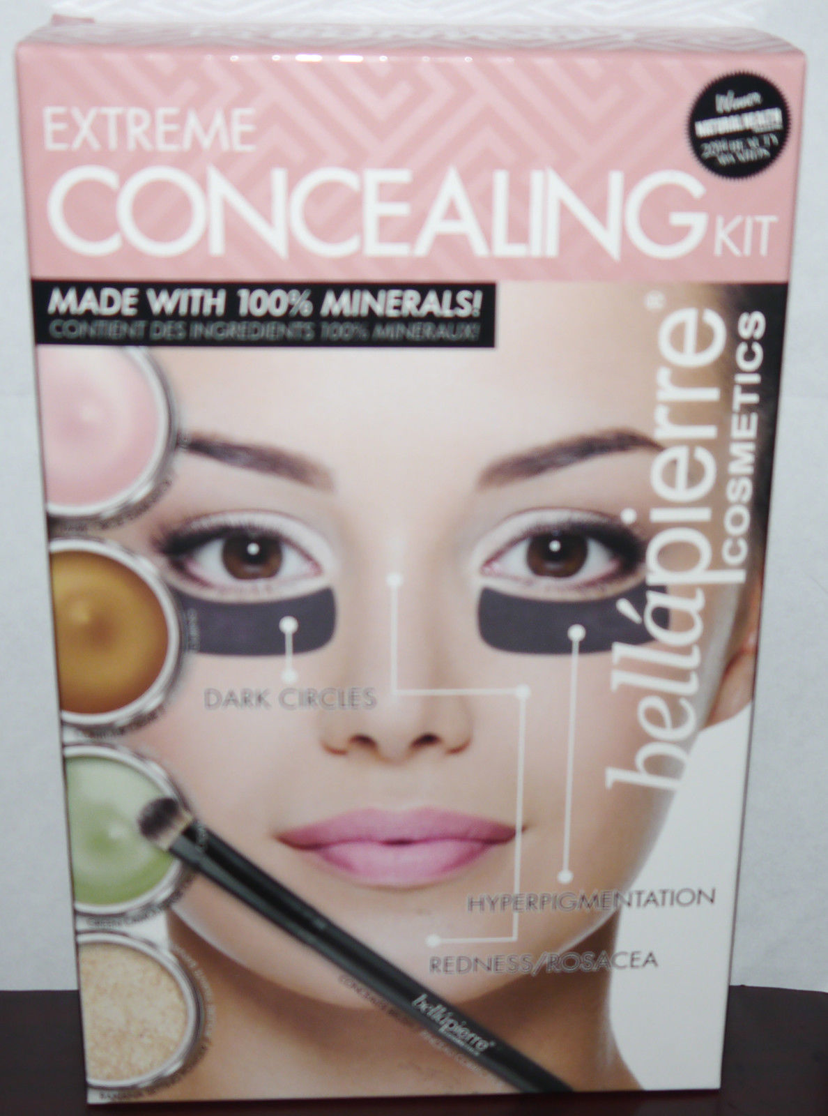 Bella Pierre 5 Piece 100% Natural Minerals Extreme Concealing Kit 12748