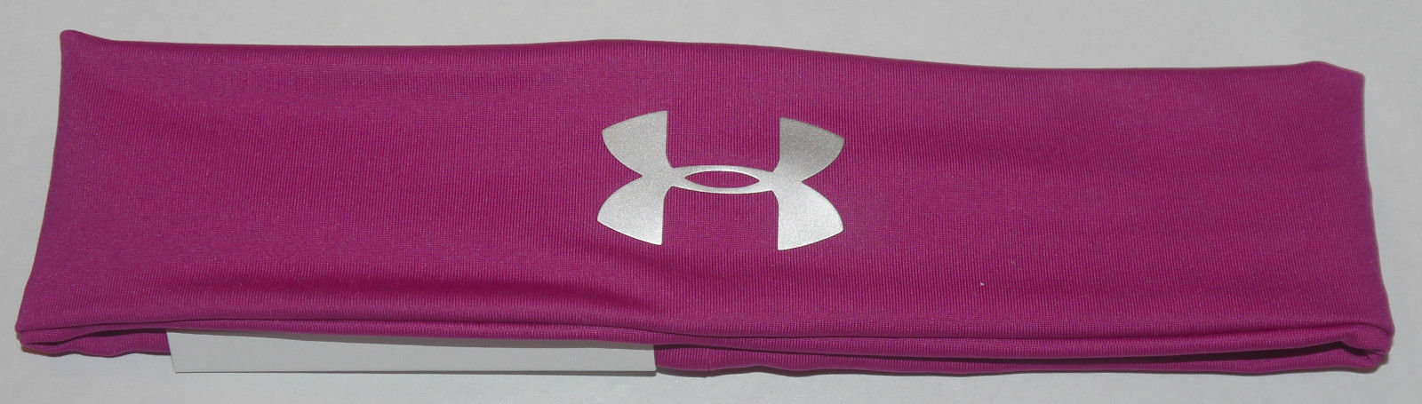 Under Armour Women's Magenta Shock/Silver Metallic UA Headband (One Size) 12831