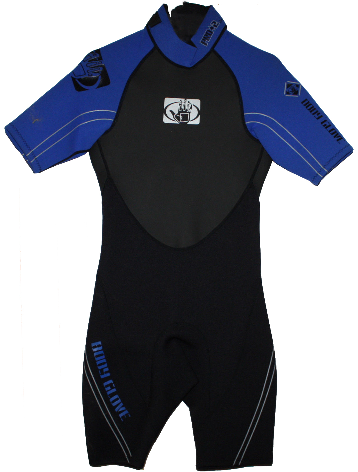 Body Glove Men's PRO 2 Blue/Black/Gray 2/1 mm Shorty Springsuit Wetsuit (Small) 13067