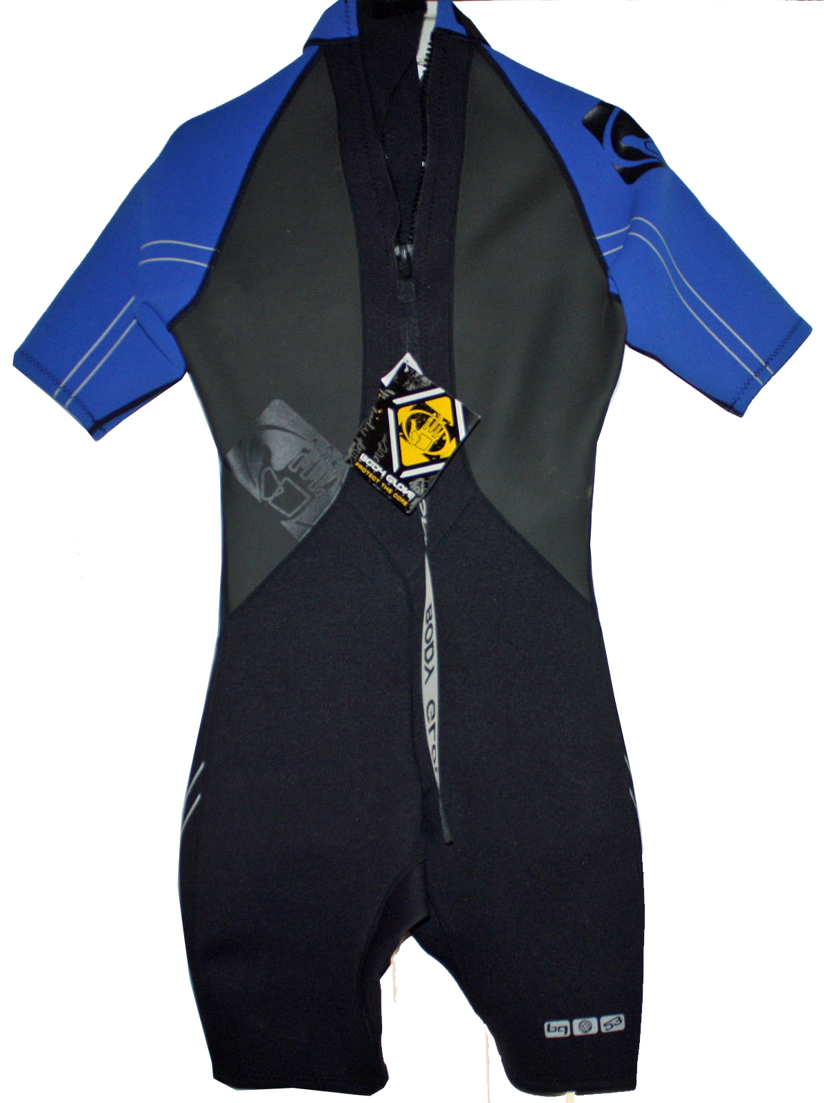 Body Glove Men's PRO 2 Blue/Black/Gray 2/1 mm Shorty Springsuit Wetsuit (Small)