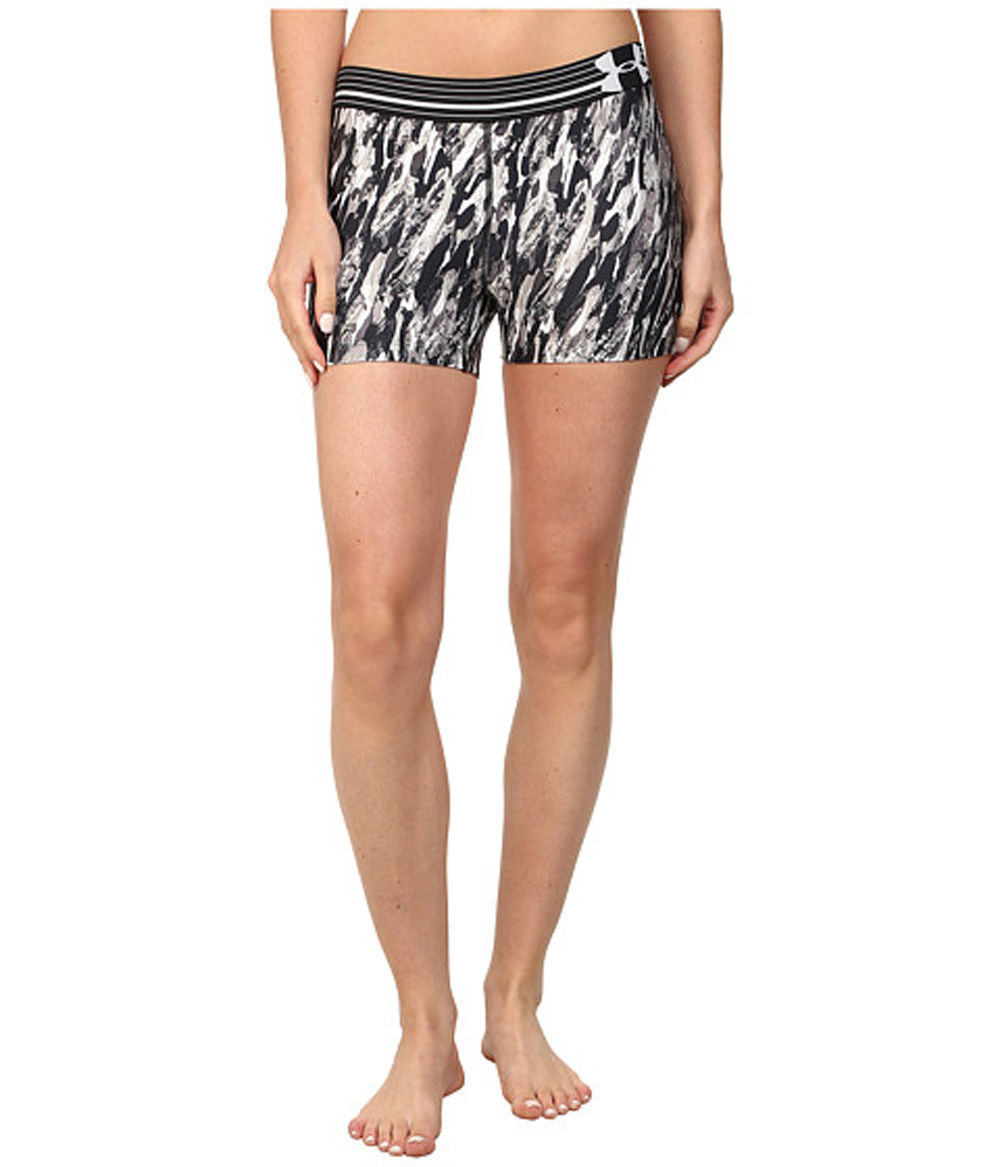 "Under Armour Women's Black/White/Grays UA 3"" Shorty Compression Shorts (Medium) 13267"