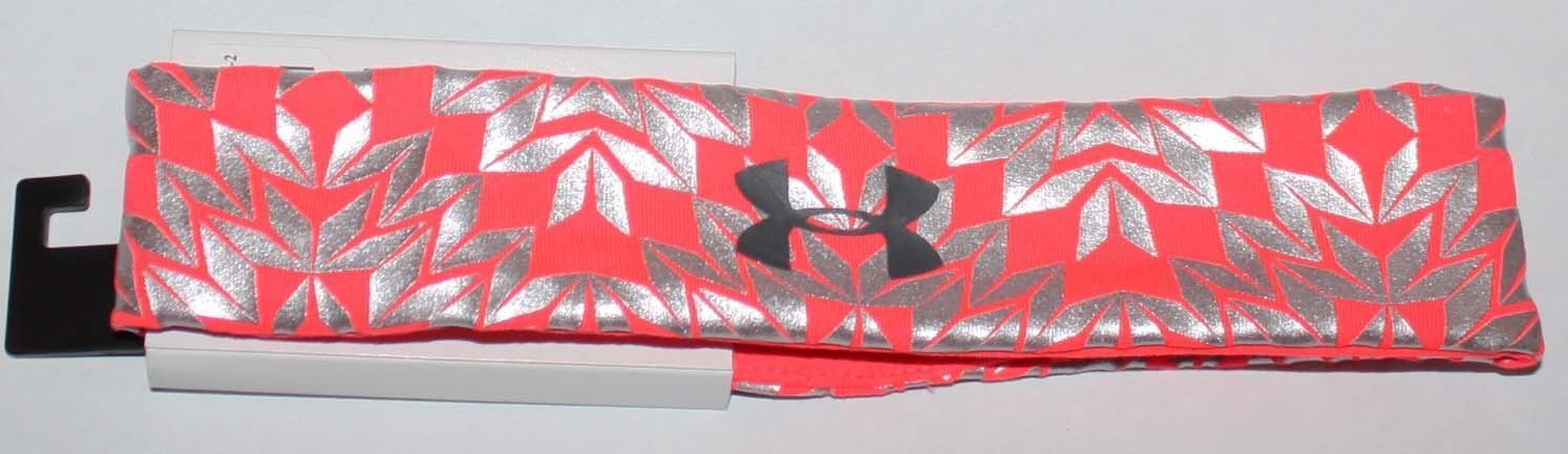 Under Armour Girls After Burn/Chrome/Black UA Foil Print Headband (One Size) 13292