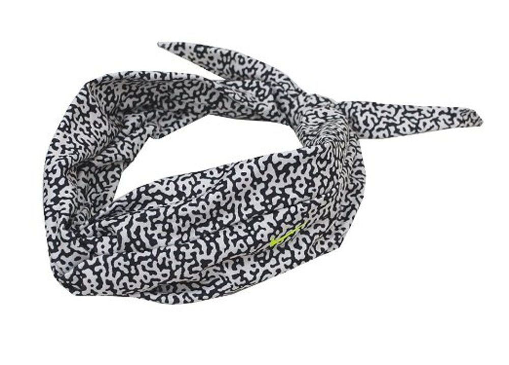 Nike Studio Twist Black/White/Volt Swoosh Printed Head Tie (One Size) 13403