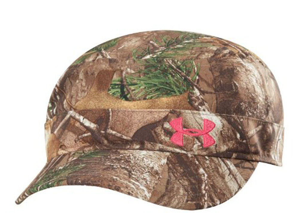 Under Armour Women's Realtree/Pinkadelic UA Adjustable Military Hat Cap 13438