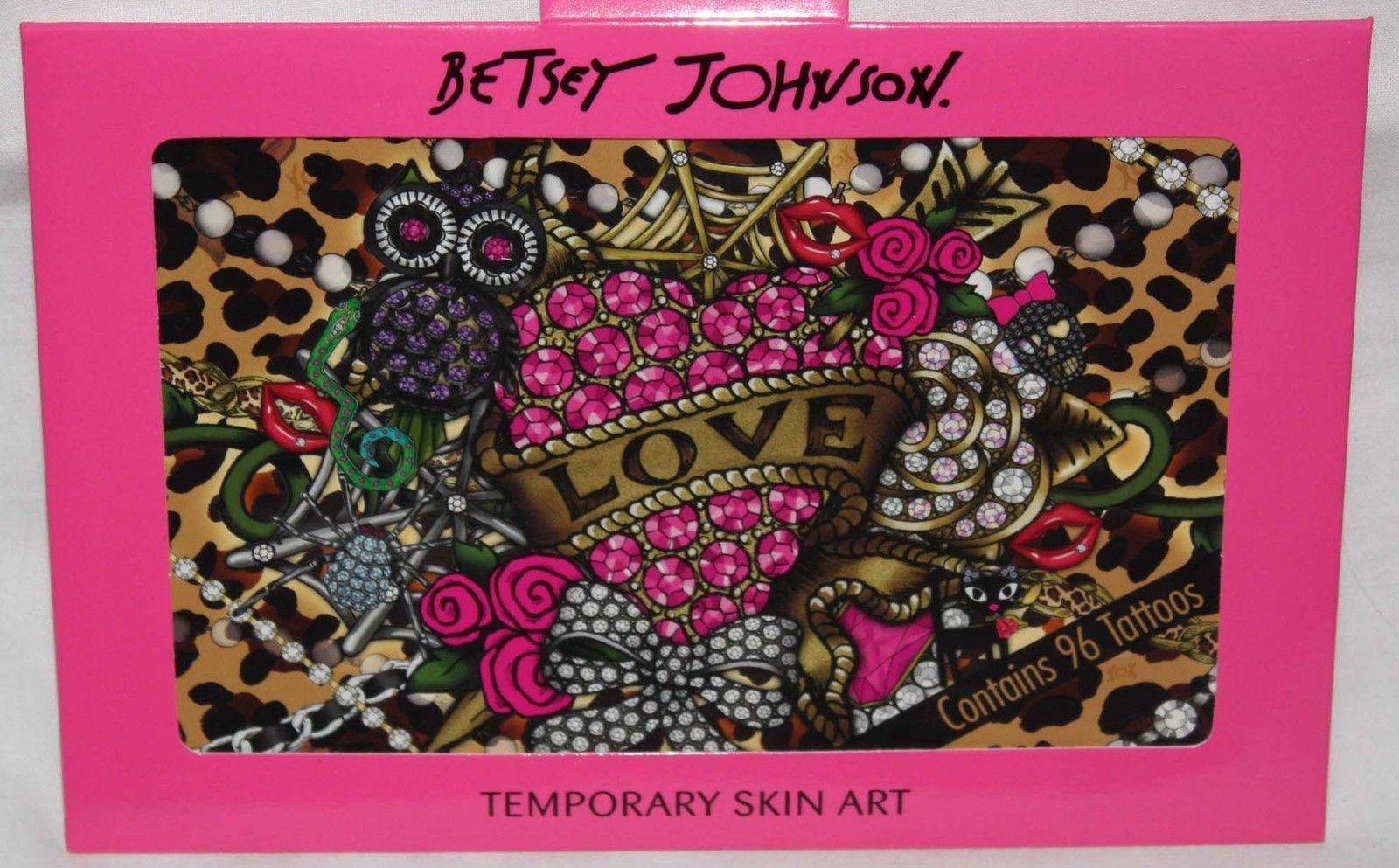 Betsey Johnson TEMPORARY Skin Art Tattoos* Roses, Skulls, Lips, Hearts & More 13560