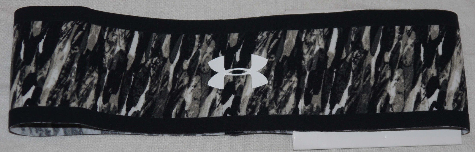 "Under Armour 2 ¼"" Grays/Black/White/White UA Headband (One Size) 13681"