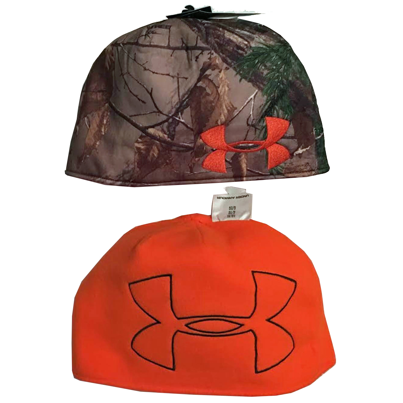 Under Armour Men's Realtree AP-Xtra Camo/Blaze Orange Reversible Beanie -Small/Medium 13725
