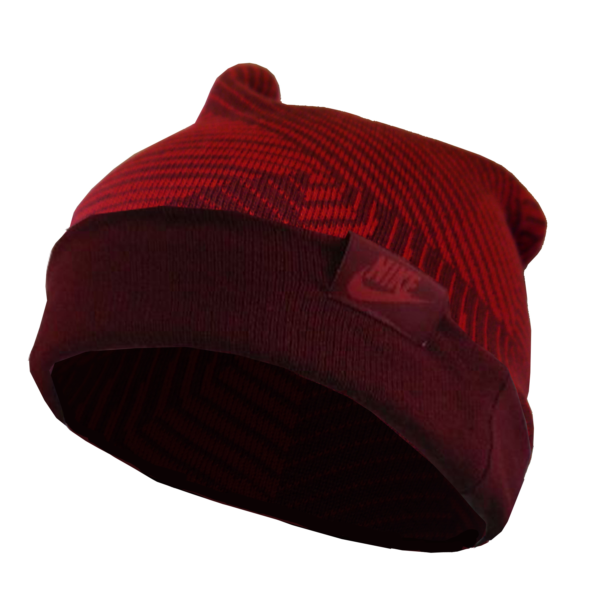 Nike Youth Unisex Sportswear Cuffed Red Beanie Hat (One Size)