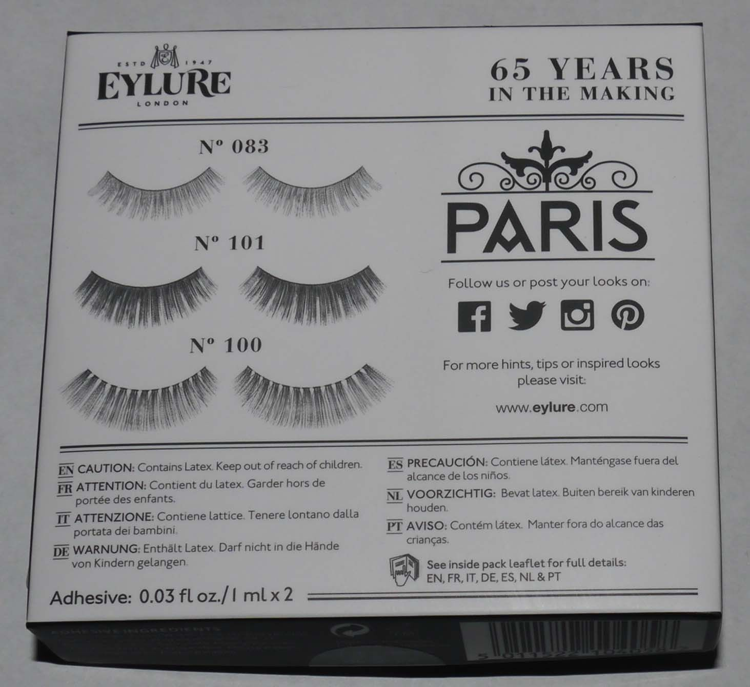 Eylure London Set of 3 The Lash Edit - Paris Re-Usable False Eye Lashes