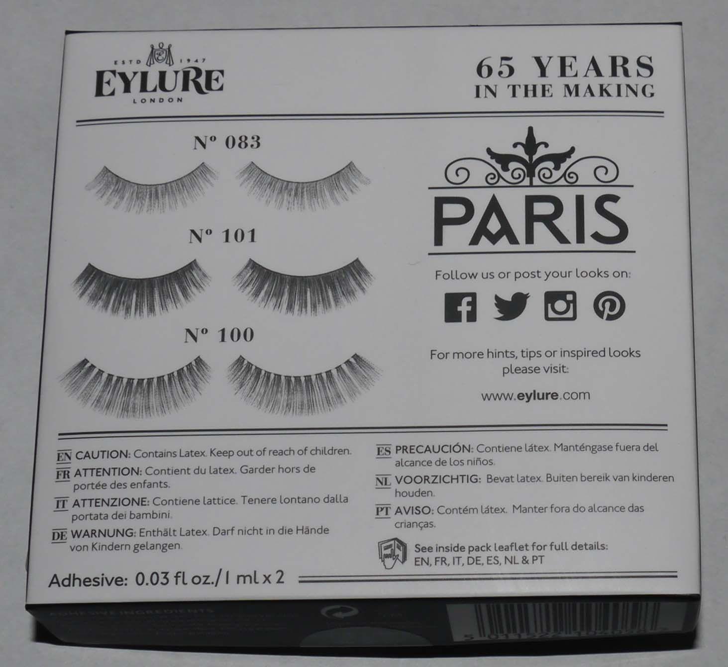 Eylure London Set of 3 The Lash Edit - Paris Re-Usable False Eye Lashes