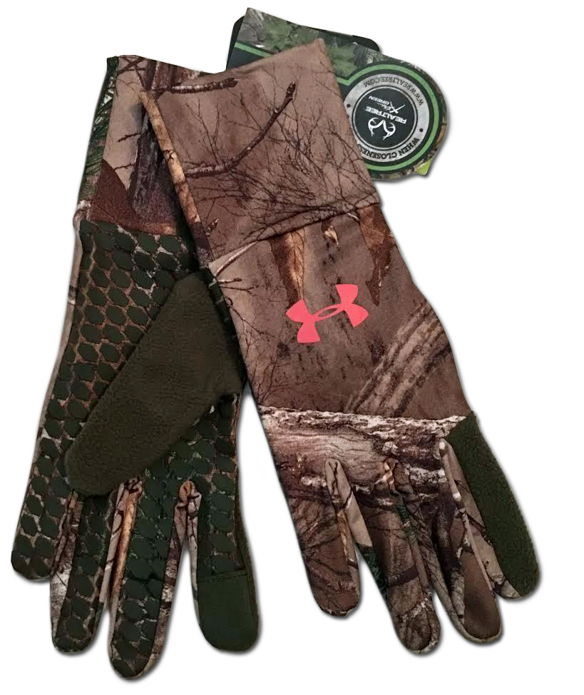 Under Armour Women's Realtree AP-Xtra/Rifle Green/Perfection UA Gloves -X-Large 13944