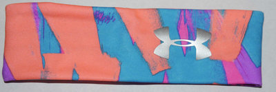 Under Armour Girl's Citrus/Blue/Pink/Purple/Silver Metallic UA Print Headband