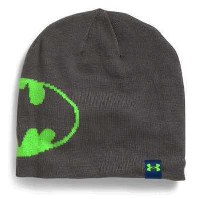 Under Armour CGI Women's Graphite/Hyper Green Batman Logo Jacquard Beanie