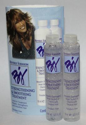 2 Bottles Beverly Johnson Strengthening & Smoothing Leave-In Hair Treatment