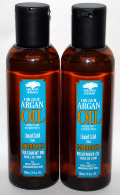 Lot Of 2 Argania Spinosa Organic ARGAN OIL Hair Treatment Oil 3.4 oz Each