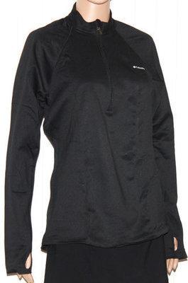 Columbia Women's Extreme Fleece LS Black ½ Zip Shirt (X-Large)