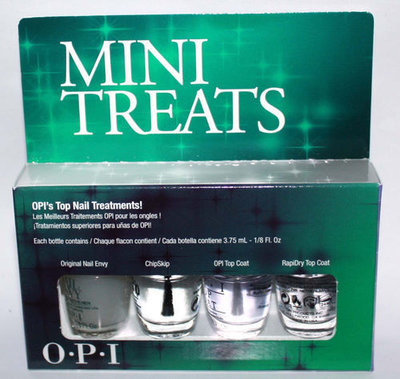 MINI TREATS Set Of 4 MINI OPI'S TOP NAIL TREATMENTS! Nail Set 1/8 oz Each