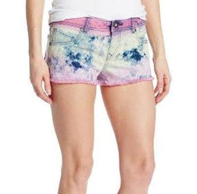 Volcom Women's Juniors High Voltage Funky Tie Dye Denim Short Shorts (Several Sizes)