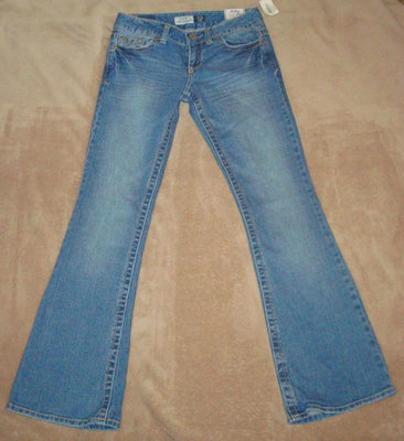 Aeropostale Women's Junior HAILEY Skinny Flare Denim Jeans (0 Short) *Reduced*