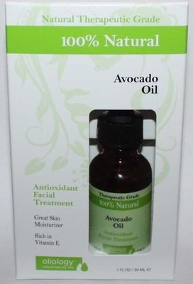 Oliology 100% Natural Avocado Oil Antioxidant Facial Treatment 1 oz