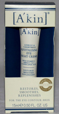 A'Kin Ginkgo & Chamomile Revitalizing Eye Night Creme .50oz (Reduced)