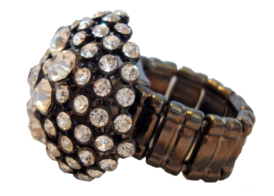 Large Rhinestone Ring (One Size)