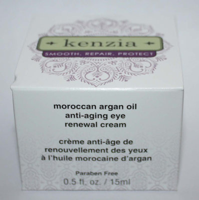 Kenzia Moroccan Argan Oil Anti-Aging Eye Renewal Cream .5 oz