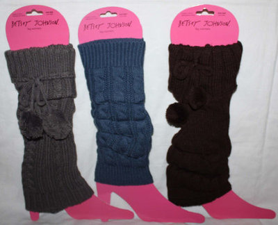 Betsey Johnson Women's Leg Warmers Boot Toppers (Size OS)