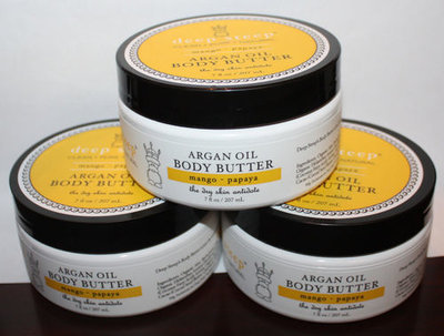 Lot Of 3 Deep Steep Argan Oil Mango * Papaya Body Butter 7 oz Each