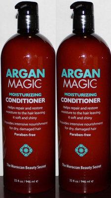 Lot Of 2 Argan Magic Moisturizing Conditioner 32 oz each