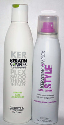 Coppola Keratin Complex Smoothing Therapy Conditioner and Syle Lock Luster