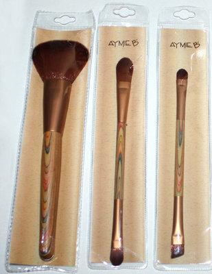 Set Of 3 Aymie B Powder, Foundation*Concealer, Eyeshadow*Eyeliner Brushes