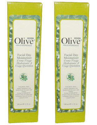 Lot Of 2 HOME SPA COLLECTION Olive Essence Facial Day Moisturizer 3.1 oz