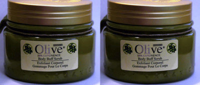 Lot Of 2 HOME SPA COLLECTION Olive Essence Body Buff Scrub 8 oz Each