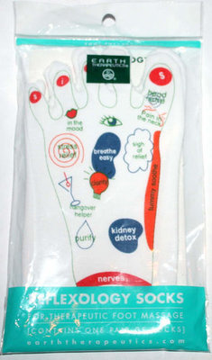 Earth Therapeutics 1 Pair REFLEXOLOGY SOCKS For Therapeutic Foot Massage