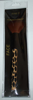 Aymie B' Professional Collection Leopard Print Face Brush