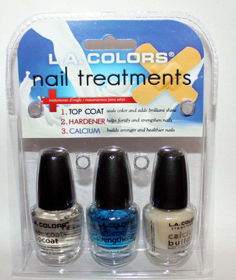 LA Colors Base-Top Coat * Nail Hardener-Strengthener * Calcium Builder Set