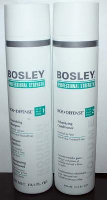 Bosley BOS*Defense Nourishing Shampoo & Voumizing Conditioner 10.1 oz Each