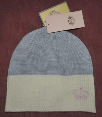 Juicy Couture COZY Women's Gray & Cream Beanie Skull Cap Hat YTRUS138Sz OS