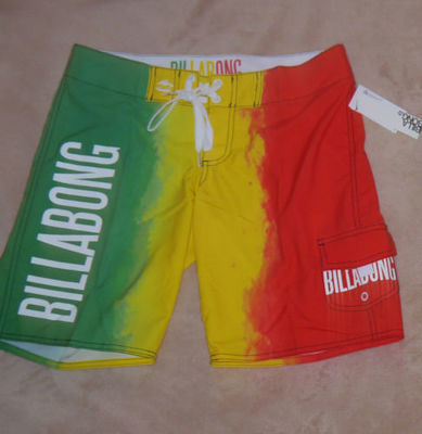 Billabong Women's Junior Multi-Colored Swim Board Shorts (Size 1)
