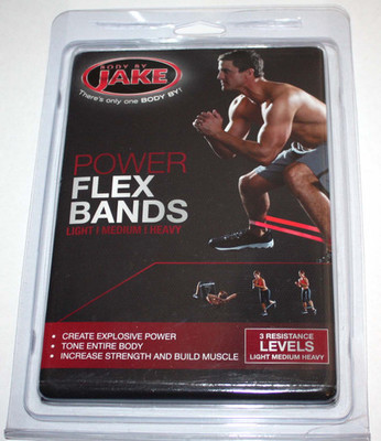 Body By Jake Unisex Power Flex Bands 3 Resistance Levels